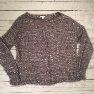 NY & Co Silver Gray Cardigan